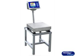 (5) Bankweegschaal HPR-Touch-WP op RVS Weegtafel / frame FR3