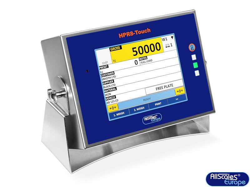 HPR8 Touch weegindicator