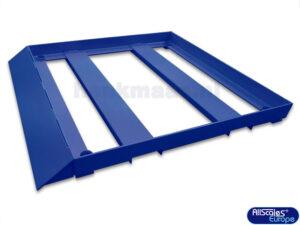 Aanrijbescherming voor Vloerweegschaal met 1 Schuine Rand 02502