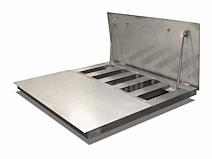 rvs vloerweegschaal met opklapbaar weegplateau 212x159