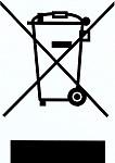 symbool voor inname afgedankte weegapparatuur