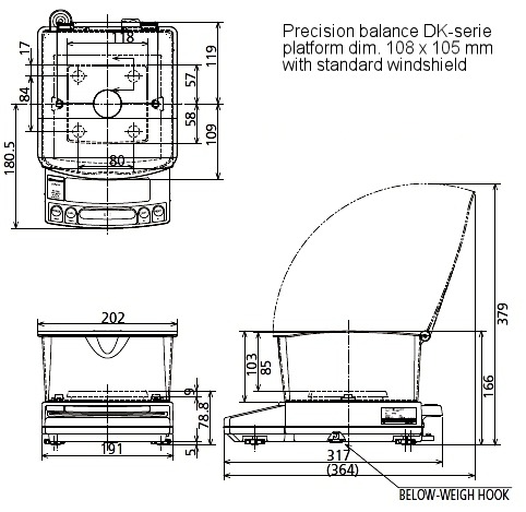 precisiebalans_dk-serie_maatschets_plateau_108x105mm