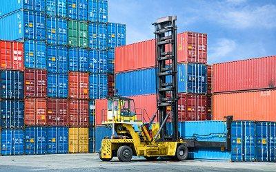 Weegsysteem voor het wegen van containers