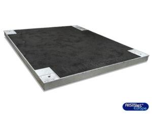 Groot vloerweegplateau met antisliptoplaag