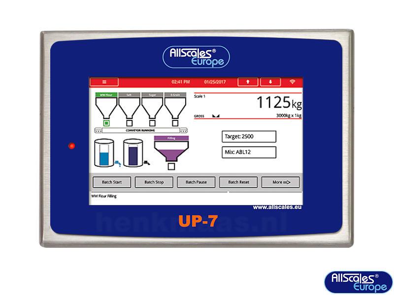 UP-7 touchscreen indicator frontzicht